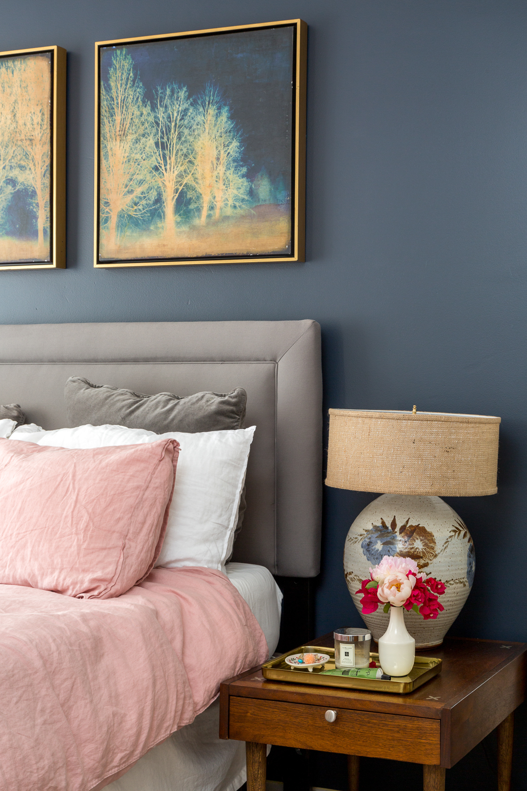navy pink bedroom boho chic navy and pink bedroom a vintage splendor at home 12685