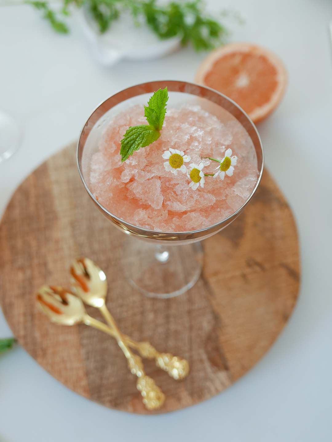 rose grapefruit granita cocktail recipe