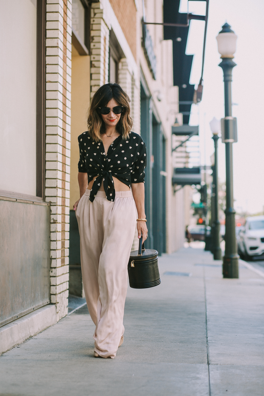 how to style silk palazzo pants outfit ideas