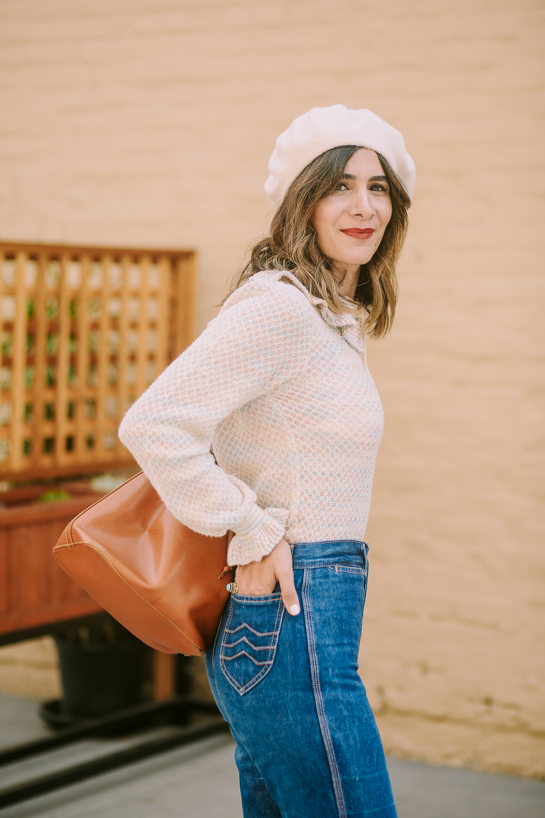 trendy ruffle sweaters for fall and winter blogger favorite