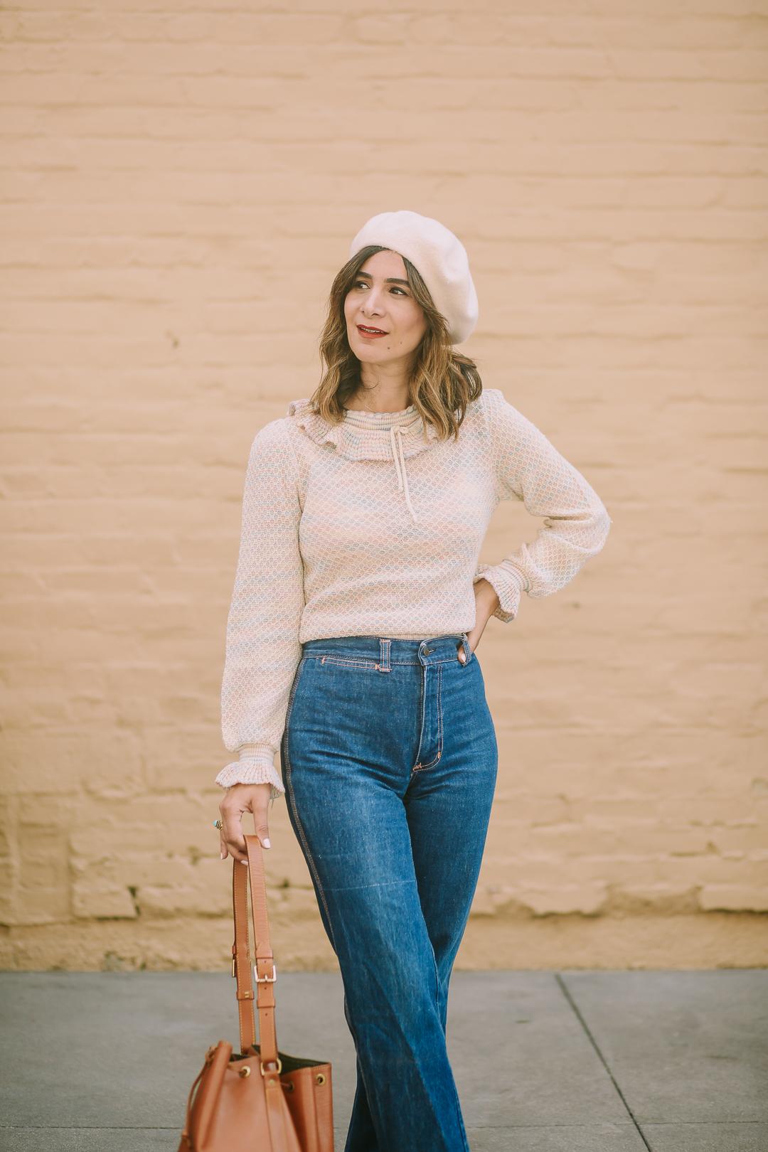 a vintage splendor styles high waist jeans for fall
