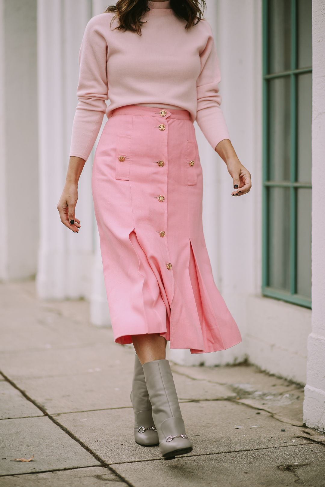 vintage celine skirt outfit ideas