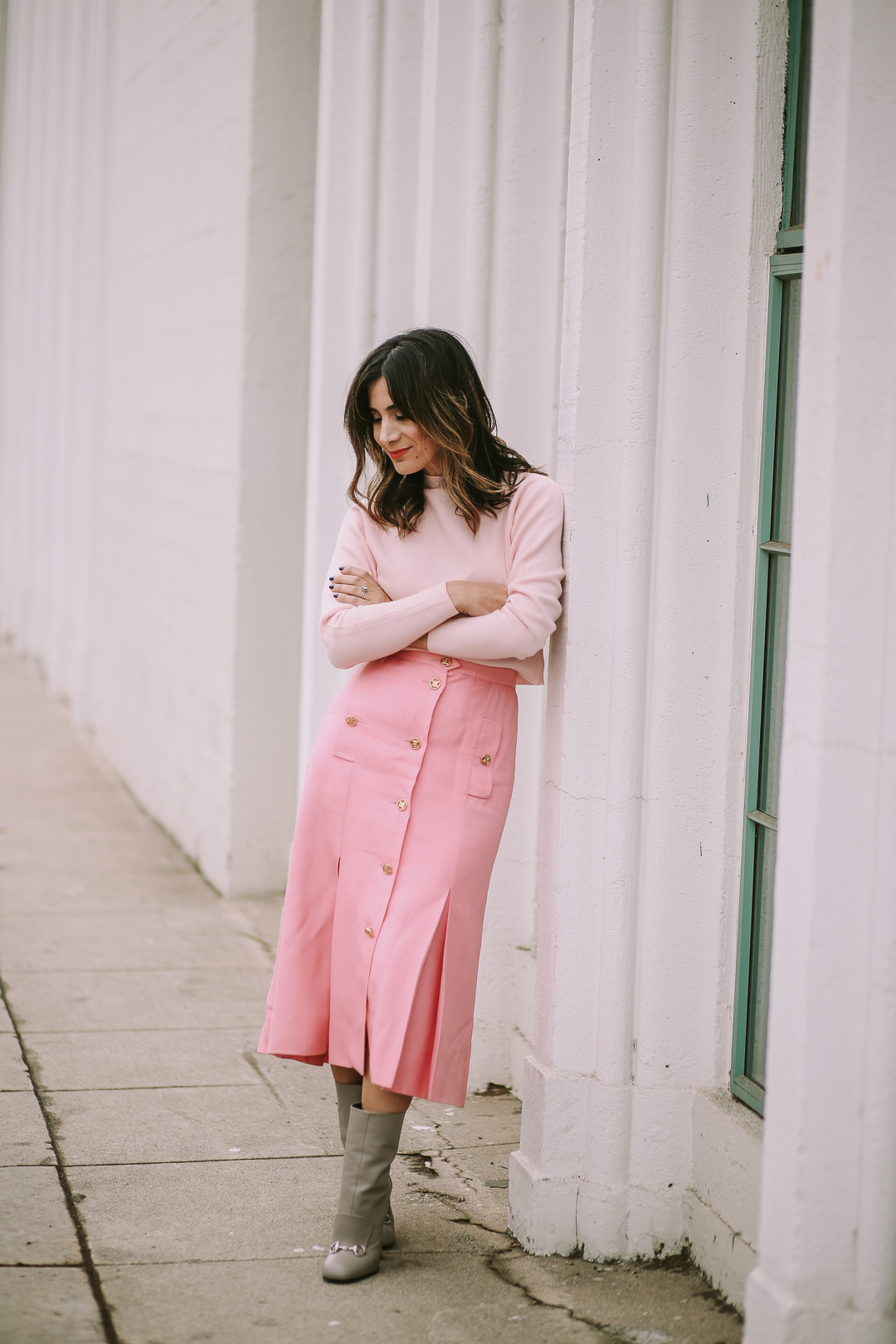 how to style pink and grey outfit ideas