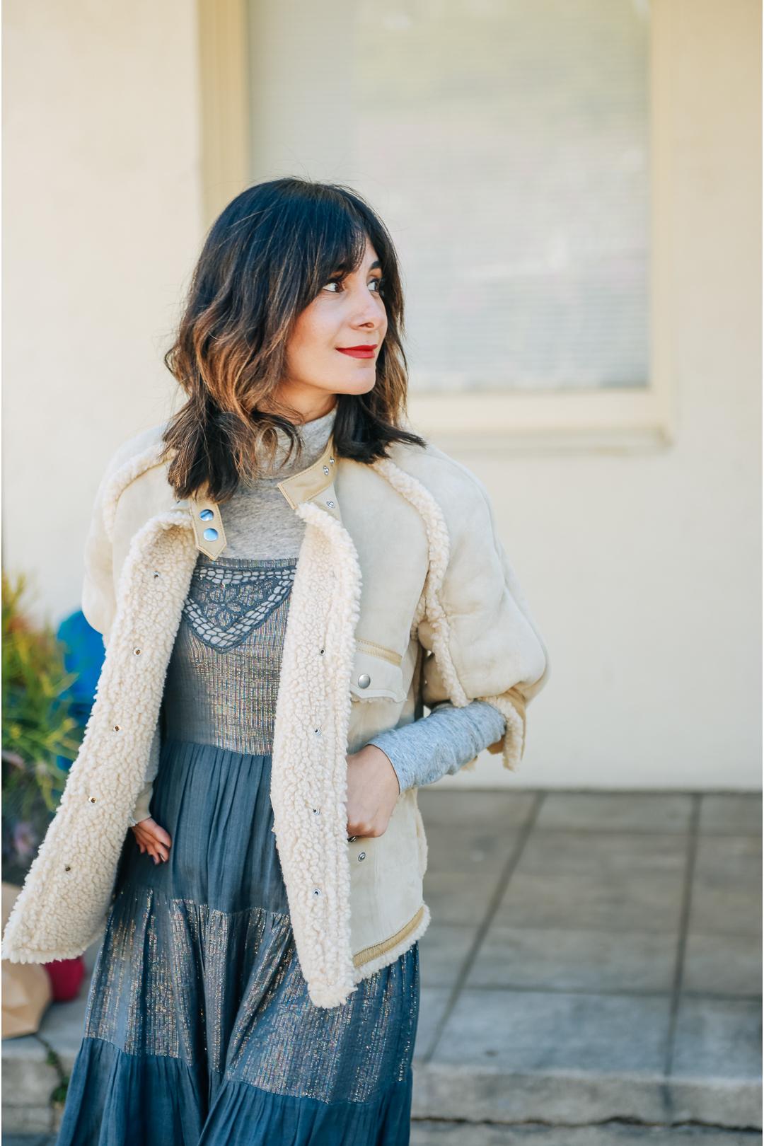 vintage shearling jacket coat