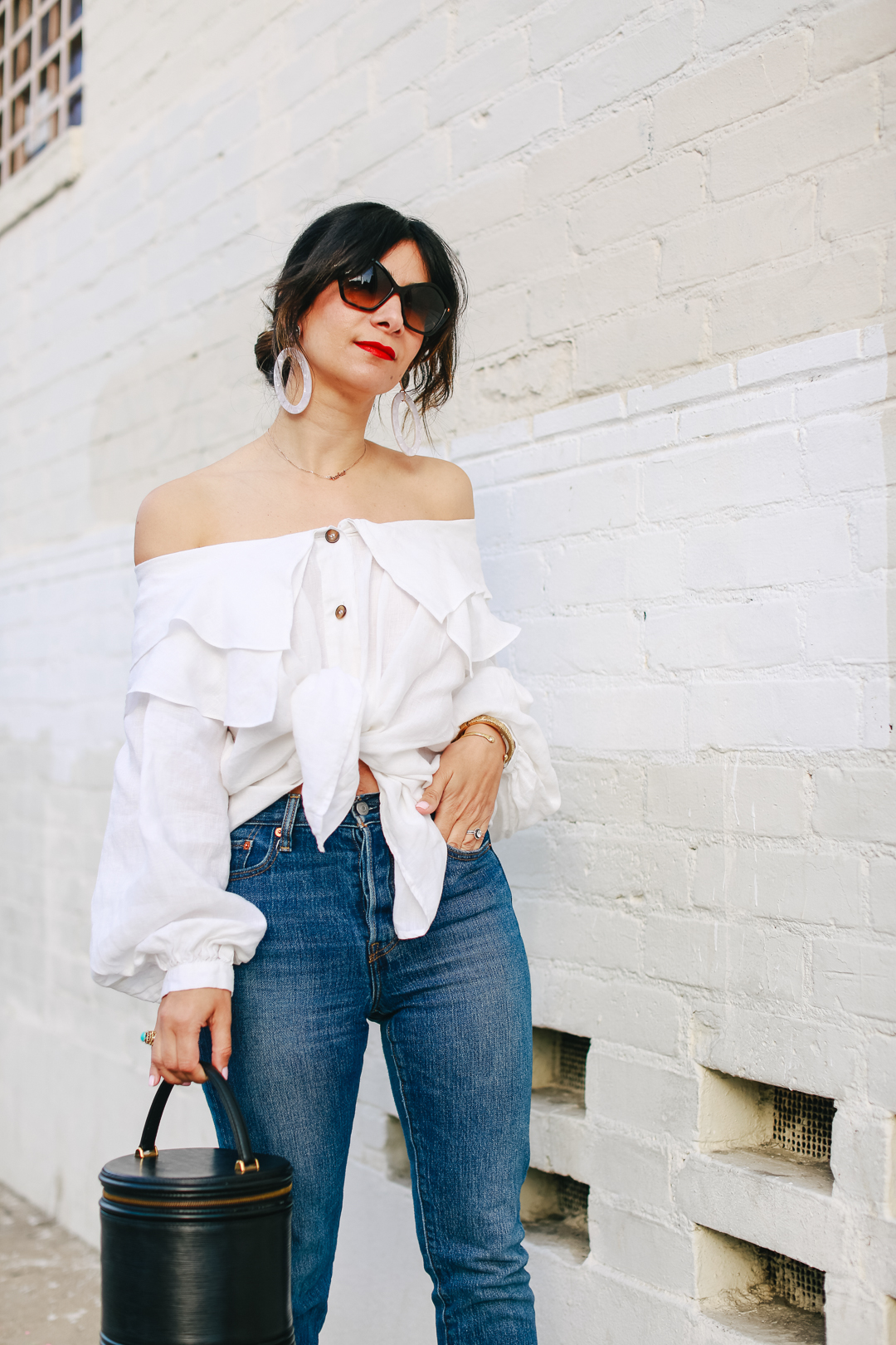 a vintage splendor styles a vintage ruffle blouse