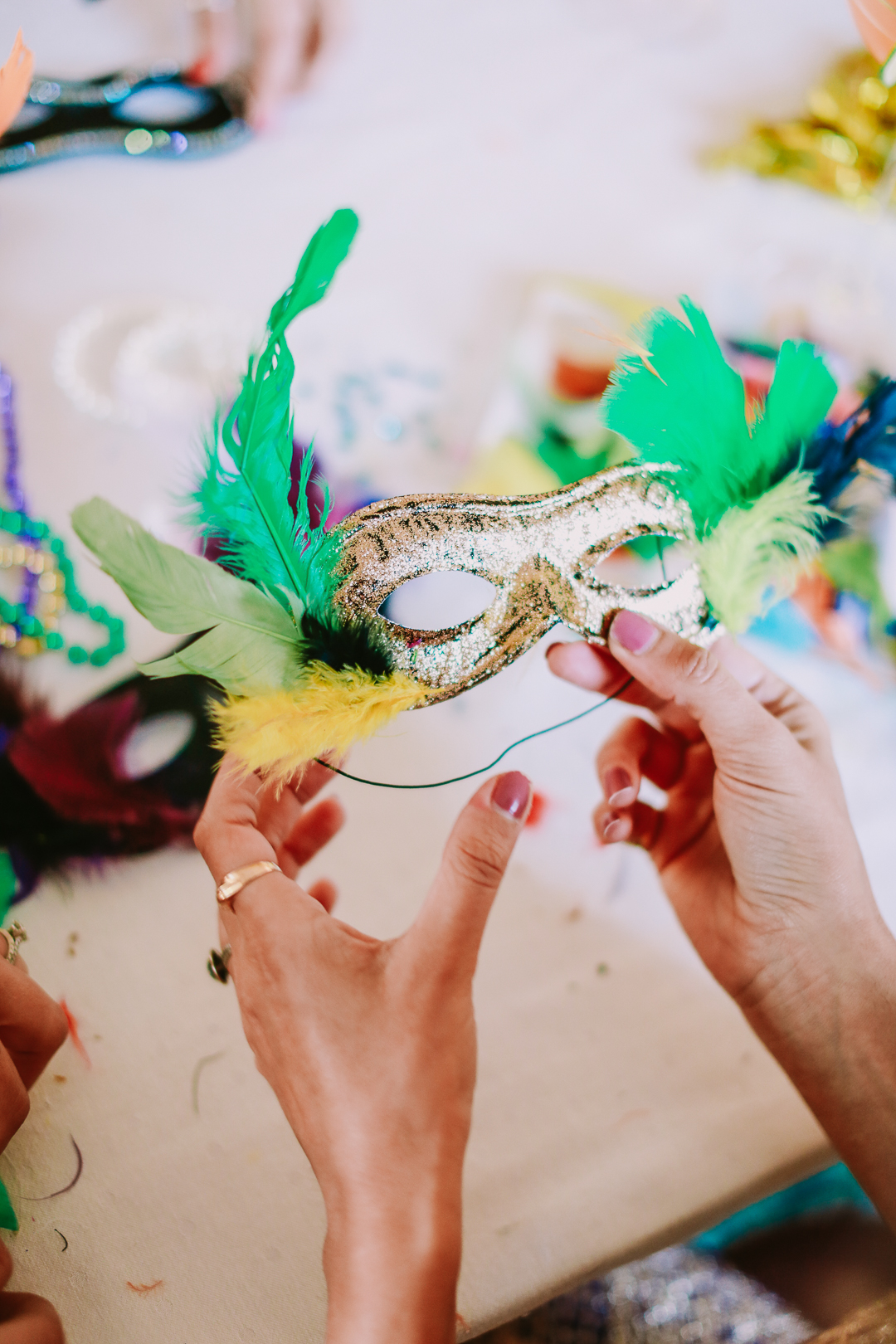 mardi gras mask diy