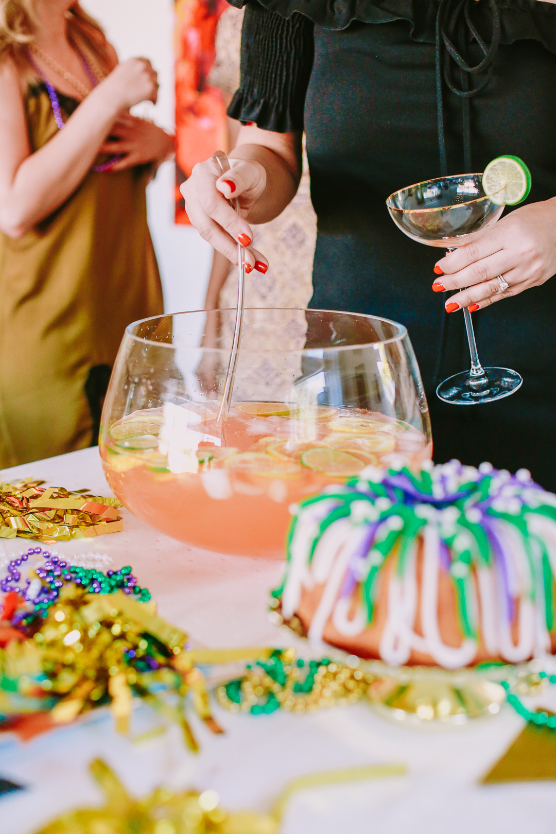mardi gras punch bowl cocktail