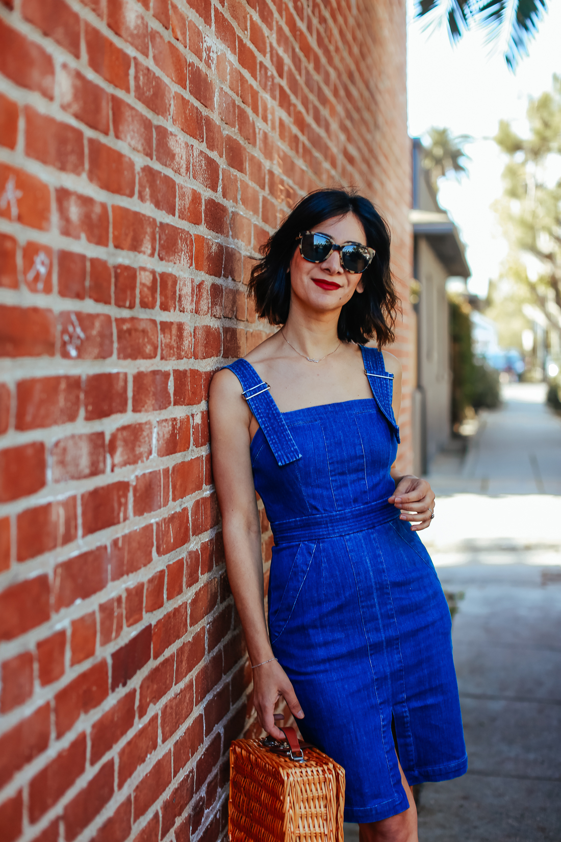 how to style a denim dress outfit ideas