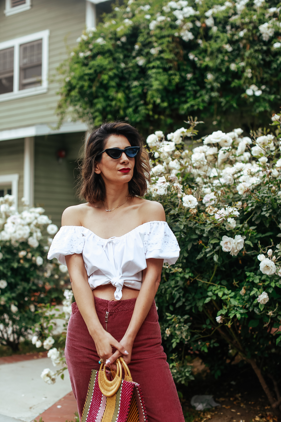 vintage off the shoulder top