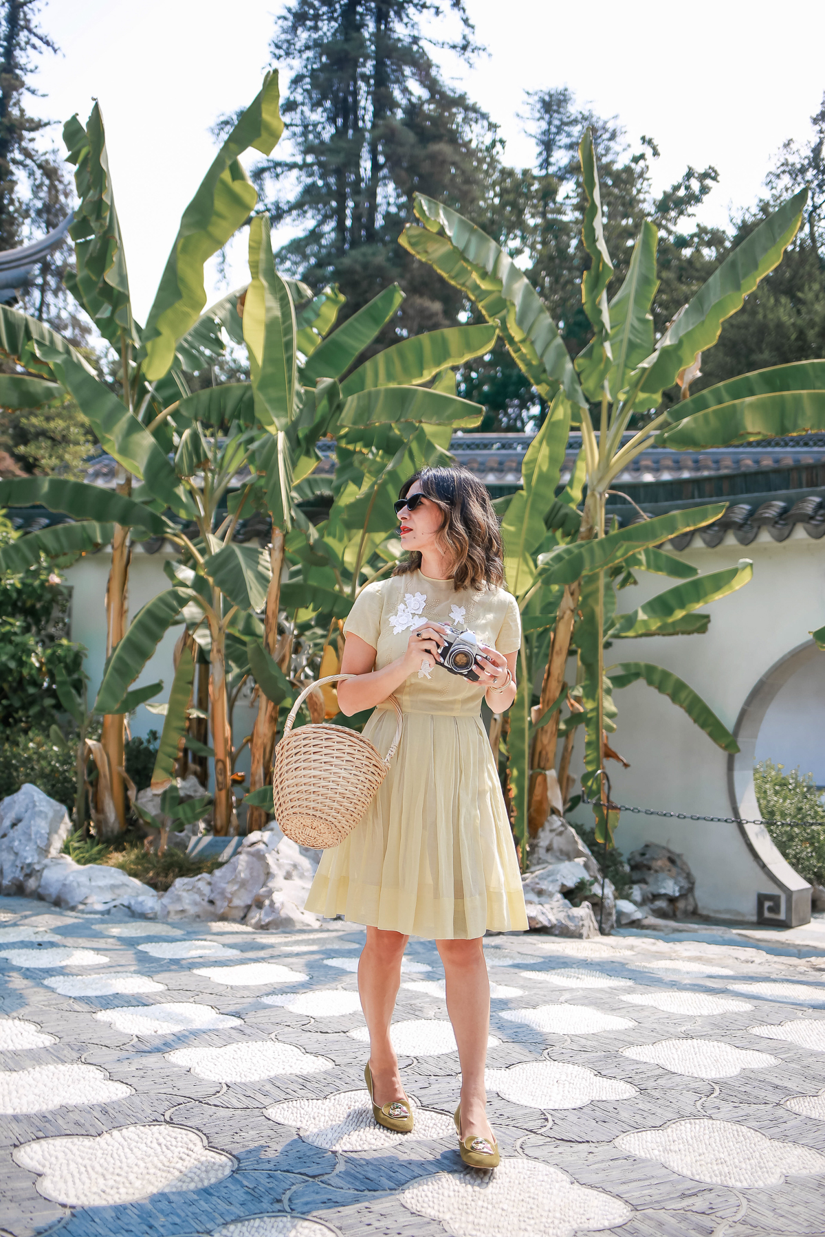 how to style a dress with flats