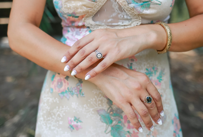vintage half moon manicure (1 of 1)