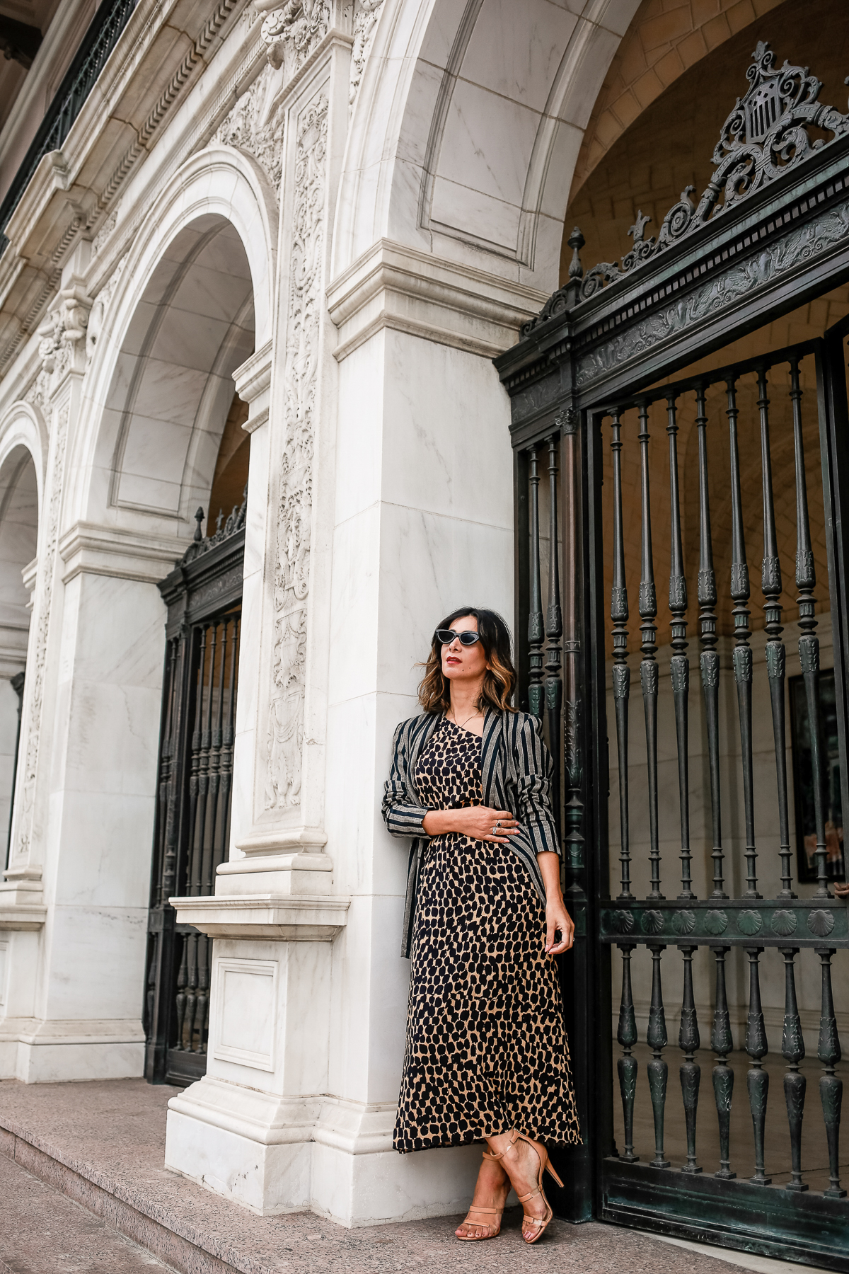how to style a leopard dress outfit ideas