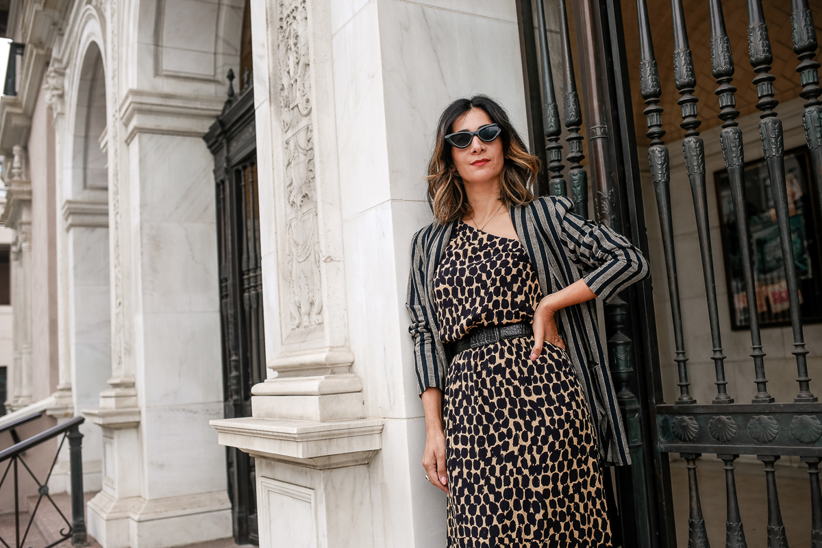 trendy leopard dresses bloggers