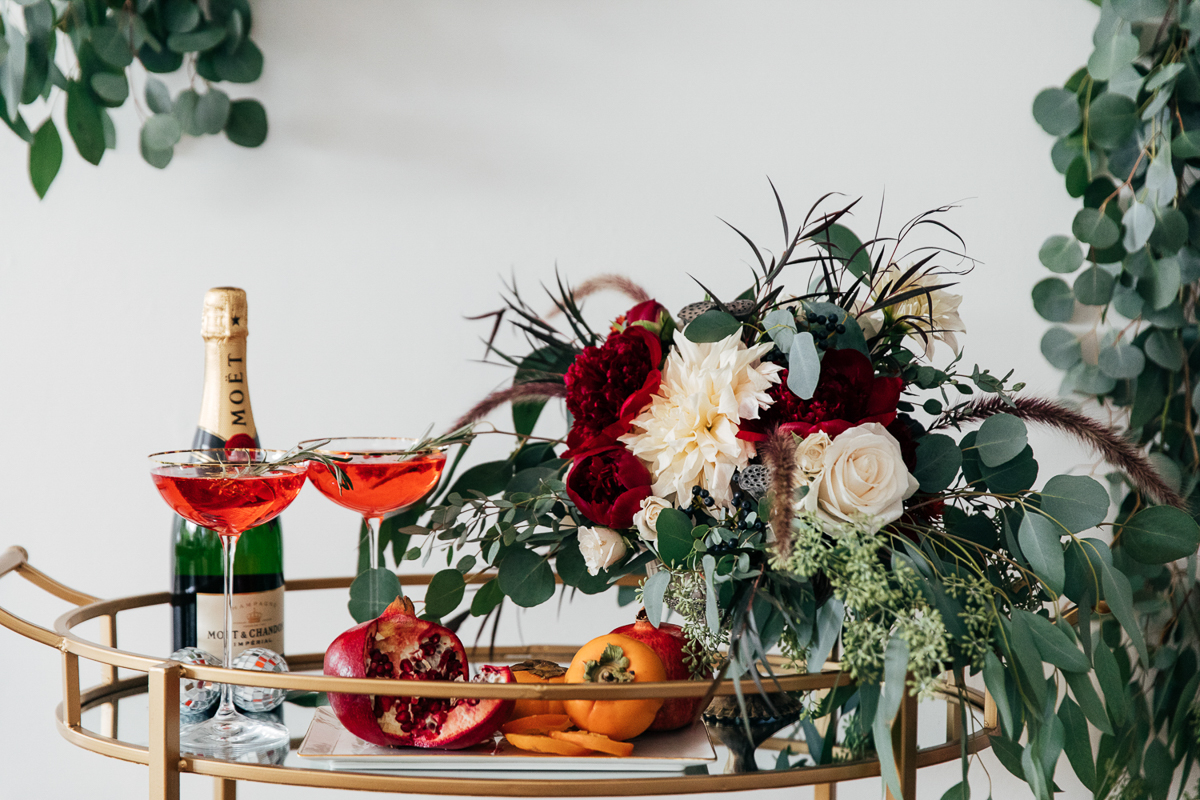 How To Style A Bar Cart For The Holidays A Vintage Splendor
