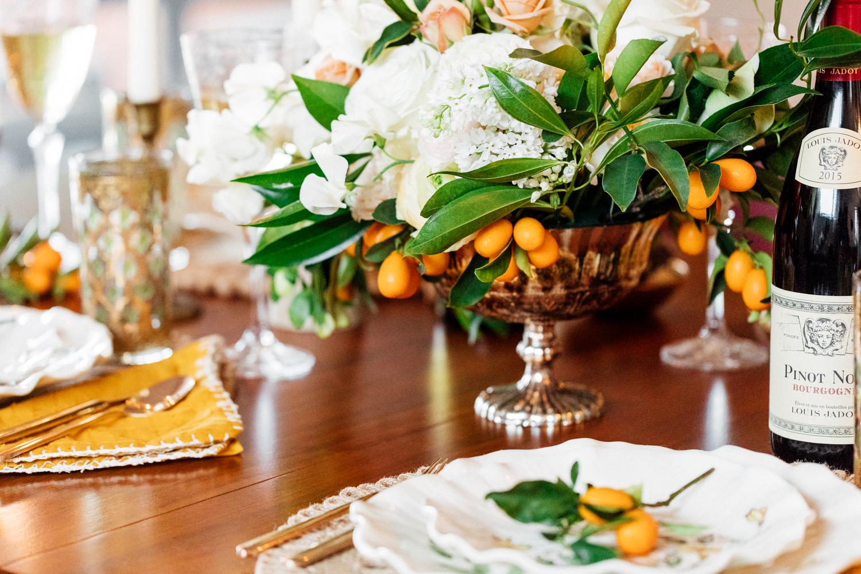 fruit inspired table decor