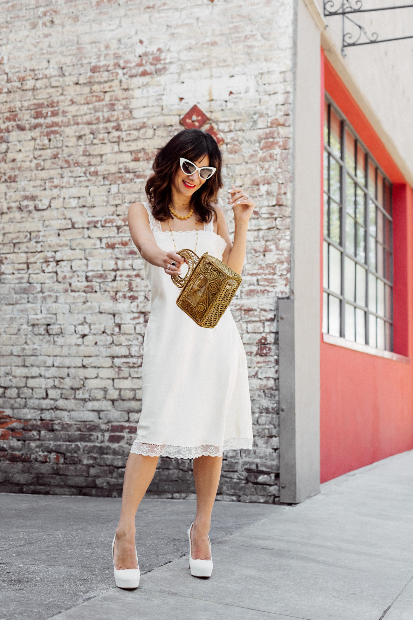 vintage silk nightgown outfit