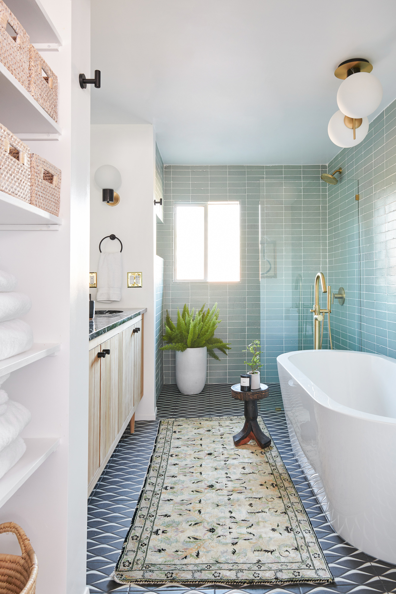 fireclay tile bathroom renovation
