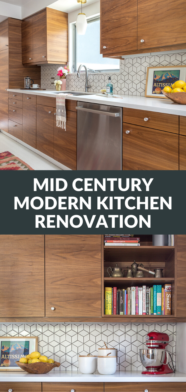 mid century modern kitchen renovation