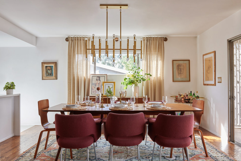 a vintage splendor home mid century modern dining room