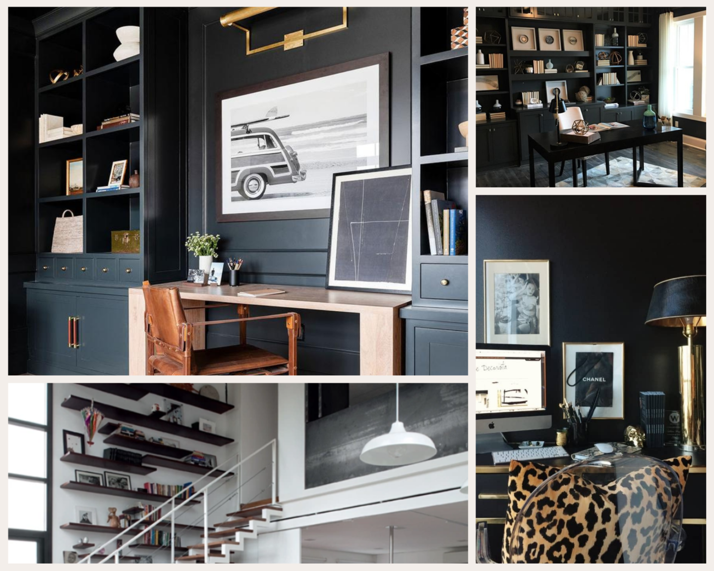 A Vintage Splendor Home Office Mood Board