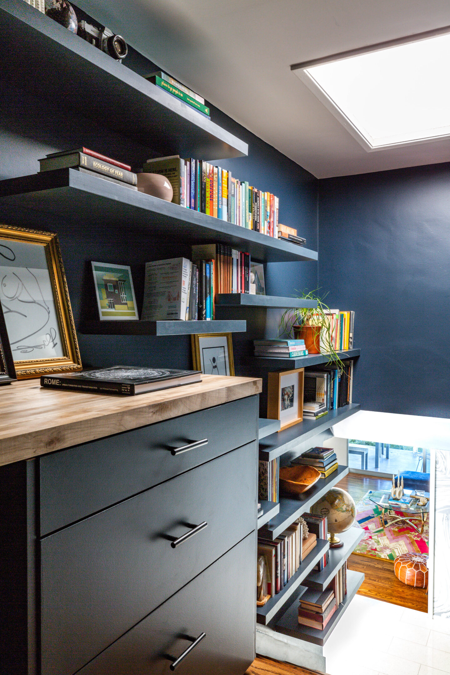 DIY home office and library
