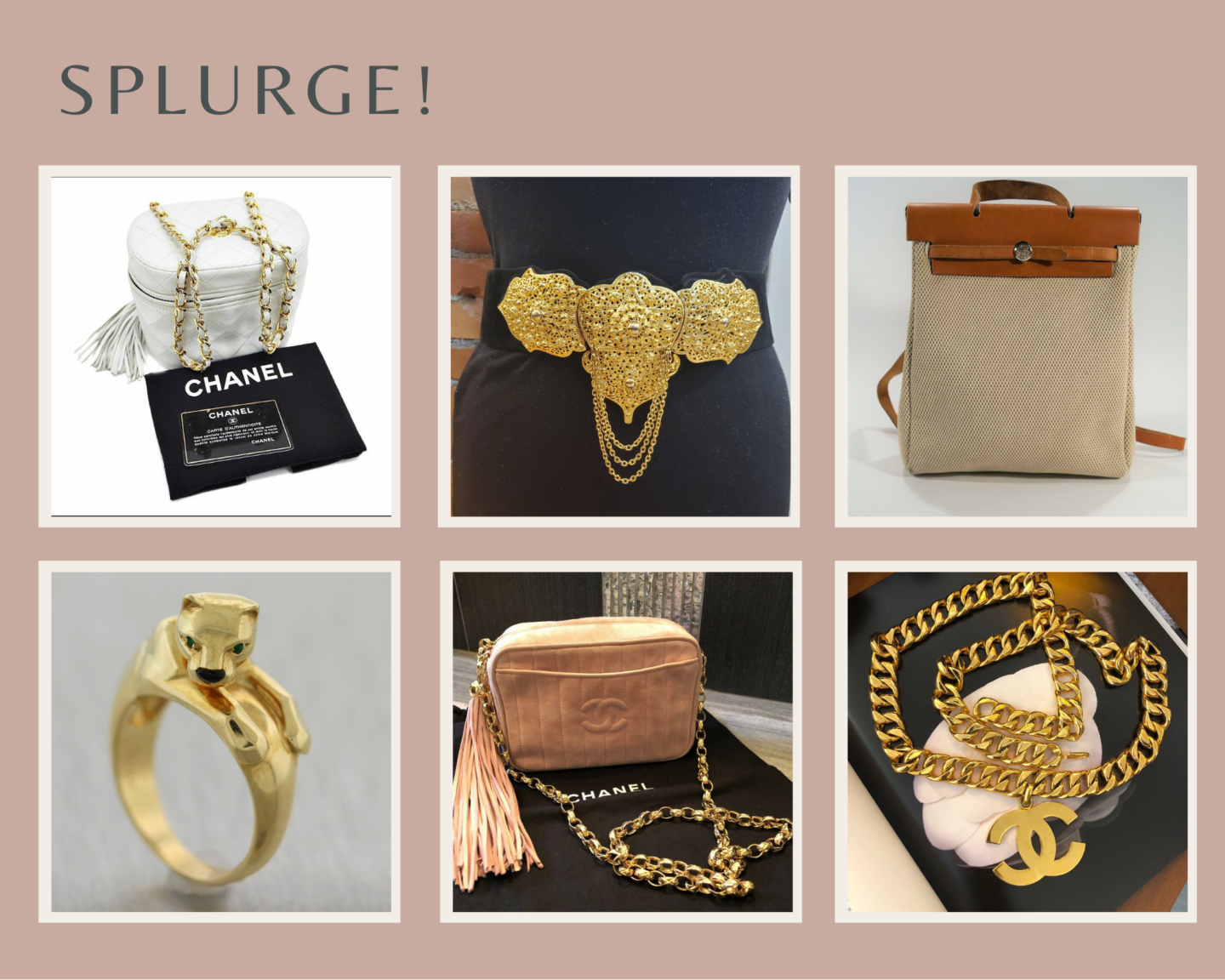 vintage items to splurge on gift guide