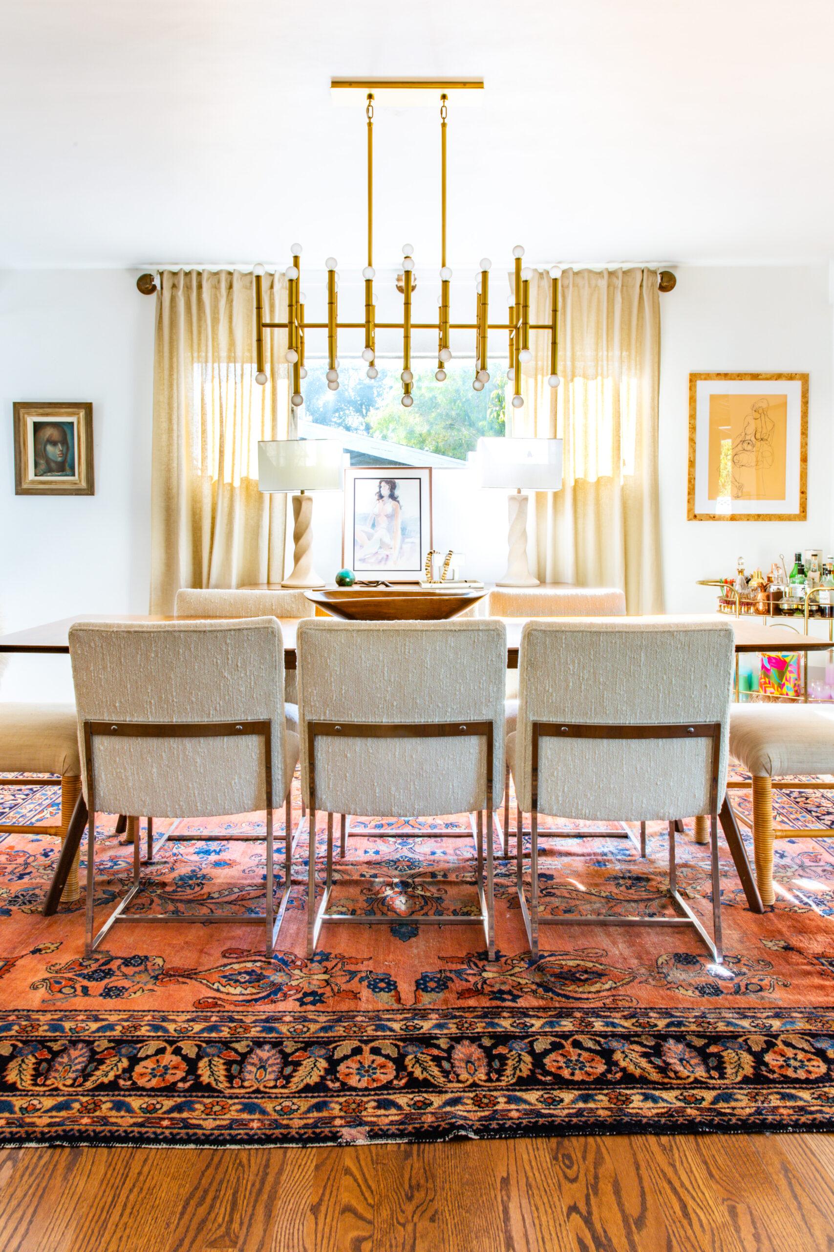 Neutral Mid Century Modern Dining Room, Mid Century Modern Dining Room